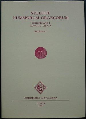 obverse: Sylloge Nummorum Greacorum Switzerland I, Levante - Cilicia, Supplemento 1. Numismatica Ars Classica, Zurich 1993. Tela ed. con sovraccoperta illustrata , monete 435 , Tvv. 35 b/n . Nuovo