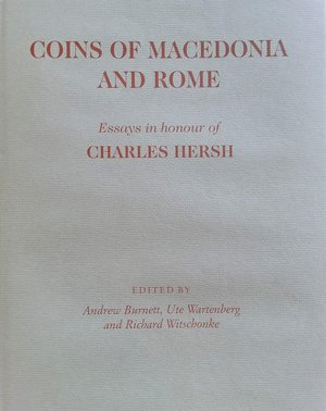 obverse: Burnett A., Wartenberg U., Witschonke R., Coins of Macedonia and Rome. Essays in honour of Charles Hersh. Spink, London 1998. Copertina rigida con sovraccoperta, 229pp., 34 tavole B/N. Nuovo   22 articoli: The coinage of King Derdas and the history of the Elimiote Dynasty- by Katerini Liampi - Philotas? A new coinage from Macedonia - by Ute Wartenberg - The coins of the Macedonian kings, Lysimachos and Eupolemos in the museums of Fethiye and Afyon - by Richard Ashton - Alexander in Asia Minor- by Georges Le Rider - The 'Ain Tab hoard (IGCH 1542) - by William E. Metcalf - Ants and eagles: some late Alexander staters from Amphipolis - by Hyla A. Troxell - Back to the future. Alexander the Great s silver and gold in the Balkans: the hoard evidence - by Yannis Touratsoglou - Two hoards of minor silver - by Arnold Spaer - Lions and lionesses, eagles and a few heads: a new uncertain mint in Caria - by Silvia Hurter - The coins in the name of Sura - by François de Callataÿ - Selinus and the quadrigatus - by Michael Crawford - The Mars/eagle and thunderbolt gold and Ptolemaic involvement in the Second Punic War -by A.R. Meadows - More evidence for the early denarius - by Richard Schaefer - Some late  early  Republican quinarii - by Richard Witschonke - Unpublished Roman Republican bronze coins - by R. Russo - Roman Republican coinage c.150-90 BC - by H.B. Mattingly - The coinage of the Social War - by Andrew Burnett - Coinage, credit and the aerarium in the 80s BC - by J.H.C. Williams - The coinage of Bibulus again - by Michel Amandry - A group of Eraviscan denarii - by Robert D. Freeman - Roman Republican coins in the Manchester Museum - by Keith Sugden - Overstrikes and imitative coinages in central Italy in the late Republic - by C. Stannard. Burnett A., Wartenberg U., Witschonke R., Coins of Macedonia and Rome. Essays in honour of Charles Hersh. Spink, London 1998. Copertina rigida con sovraccoperta, 229pp., 34 tavole B/N. Nuovo   22 articoli: The coinage of Ki