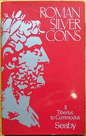 obverse: Seaby H.A., Loosley R., Roman Silver Coins II – Tiberius to Commodus. Seaby, Spink & Son reprint, London 2004. Copertina rigida con sovraccoperta, 160pp., 573 monete illustrate B/N. Ottime condizioni