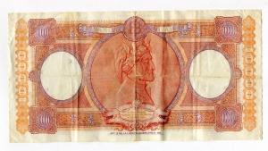 reverse: Lire 10.000 del 2/11/1961.