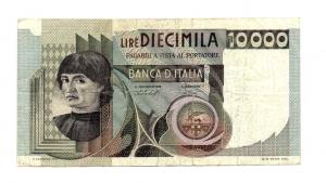 """obverse: ITALIA. LIRE 10.000. """"Castagno"""". 1978. Discreta, molto circolata."""