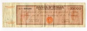 obverse: ITALIA. LIRE 10.000 17/07/1947. Titolo Provvisorio - Medusa. NC. In discreta conservazione. Vedi dettagli in foto.