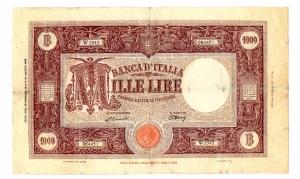 obverse: Lire 1.000 18/01/1947. Barbetti. BB/SPL.