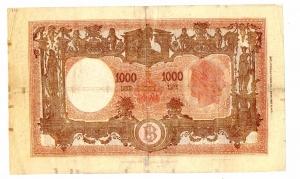 reverse: Lire 1.000 18/01/1947. Barbetti. BB/SPL.