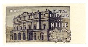 "reverse: Lire 1.000. ""Giuseppe Verdi – 2° Tipo"". 1977. qFDS."