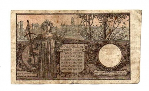 reverse: Regno d Italia. Vitt. Em 3°. Lire 5 del 1914. qBB.