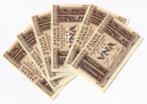 D/ R.I. Vitt. Em. 3° - Lotto molto interessante di 06 pz da Lire 1 1939. Consecutive! Quasi tutte in conservazione FDS.