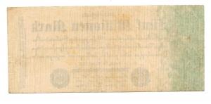 R/ GERMANIA. Funf Millionen Mark / 5.000.000. 1923. Perfetta.