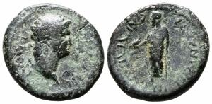 obverse: NERONE (54-68). Lydia, Sardeis. AE 19 (3.79 gr.). MB. R1.