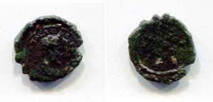 obverse: Macrinus (217-218), Moesia Inferior, Nicopolis ad Istrum. AE (3,37 gr. – 18 mm.). D.\: AYT K M OΠEΛI CE MAKPINOC. Laureate head right. R.\: NIKOΠOΛITΩΝ ΠPOC ICTPΩ. Legend in 5 lines. Varbanov 3325. BB+. R.