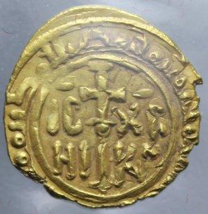 REGNO DI SICILIA PALERMO RUGGERO II TARI  D ORO 1130-1154 AU. 1,20 GR. SPL SIGILLATA MALIMPENSA