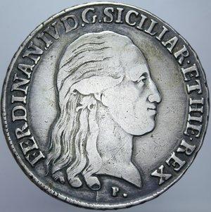 REGNO DI NAPOLI FERDINANDO IV PIASTRA 120 GRANA 1800 RR AG. 27,31 GR. qBB/BB+