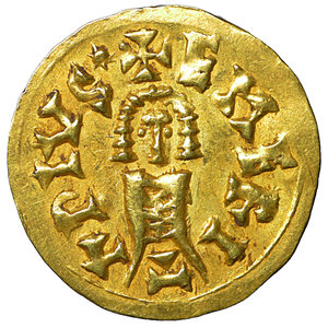 R/ Visigoths. Sisebut. 612-621 AD. Gold Tremissis. AV 1.49 gr. – 18.5 mm. Emérita (Mérida). O:\ +SISBVTVSREx; bust. R:\ +EMERITAPIVS*; Bust. (Cnv-258.1). Uncirculated