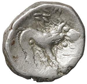 reverse: Cisalpine Gaul, Insubres. Silver Drachm.  Imitating Massalia. 2nd century BC. 2,26 gr. – 14.6 mm. O:\ Female head right. R:\ Lion standing right. BMC 3-6; Pautasso 435-457. Rare. VF\XF