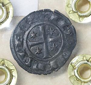 R/ Regno di Sicilia. BRINDISI. Federico II (1197-1250). Denaro (1249). 0.51 gr. – 16.8 mm. D:\ F con tre stellette. R:\ Croce con 4 stellette. Spahr 148; MIR 298. NC. qSPL