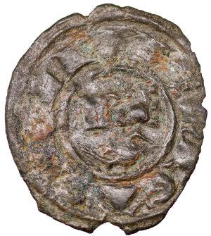 D/ Regno di Sicilia. Brindisi. Corrado I (1250 - 1254). Denaro 0.65 gr. - 16.8 mm. D:\ Croce patente. R:\ Nel campo RX. Spahr 156. BB+