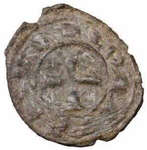 R/ Regno di Sicilia. Brindisi. Corrado I (1250 - 1254). Denaro 0.65 gr. - 16.8 mm. D:\ Croce patente. R:\ Nel campo RX. Spahr 156. BB+