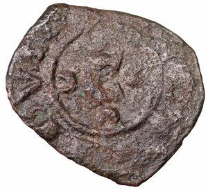 D/ Regno di Sicilia. Corrado II (1254 - 1258). Denaro. 0.70 gr. - 15.4 mm. Denaro con C tra crescenti. BB+