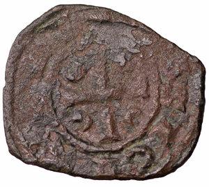 R/ Regno di Sicilia. Corrado II (1254 - 1258). Denaro. 0.70 gr. - 15.4 mm. Denaro con C tra crescenti. BB+