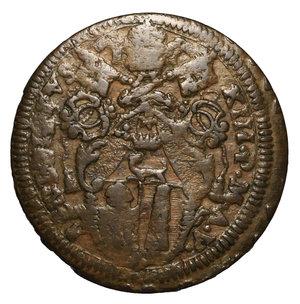 D/ Benedetto XIII. (1724-1730). GUBBIO. Baiocco 1730 A. V. 14,7 gr. – 36,9 mm. Munt. 47 l. R2. BB/SPL. PERIZIATA