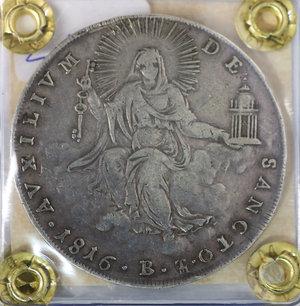 R/ Stato Pontificio. Pio VII. 1800-1823 DC. Scudo 1816. Bologna. Rara. SPL