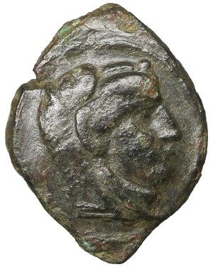 obverse: Sicily. Kephaloidion. 400-200 BC. Bronze. Æ 14mm. - 1,53g. O:\ Head of Herakles right, wearing lion skin. R;\ Pegasos flying right. HGC 2, 654. VF\XF