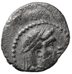 reverse: CILICIA. Tarsos. Tarkumuwa (Datames), satrap of Cilicia and Cappadocia, 384-361/0 BC. Obol. 10 mm. 0,72 g. O:\ Diademed head of Aphrodite right. r:\ Helmeted head of Ares right. Göktürk S. 145, 25; SNG Paris 278. XF