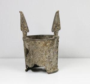 D/ BURKINA FASO. BOBO PEOPLE. EARLY 1900 AD. SNAKE SPIRAL BRACELET. BRONZE 399 gr. (13,96 oz) - 14x8,5 cm (5,5x3,3 inch)