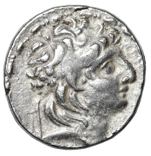 obverse: SELEUCID KINGDOM. Antiochus VII Eurgetes. 138-129 BC. AR Tetradrachm. 16.5 gr. - 28,3 mm. Antioch mint. O:\ Diademed head of Antiochus VII right. R:\ ΒΑΣΙΛΕΩΣ ΑΝΤΙΟΧΟΥ ΕYΕPΓΕΤΟΥ, Athena standing left, supporting wreath-bearing Nike left on right hand & resting left on grounded shield, vertical spear in background, ΛI monogram above A in left field; A and T at the sides of Athena. SNGI 1855.8.VF/XF
