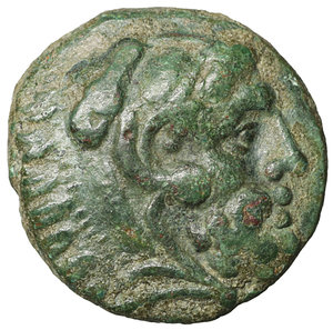 obverse: Kings of Thrace. Uncertain mint. Adaios 253-243 BC. Bronze. 5.90 gr. – 17.5 mm. O:\ Head of Herakles right, wearing lion skin. R:\ AΔAIOY, club, two monograms: HP and Σ. SNG Brit vgl. 328 ff. R2. XF+