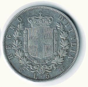 reverse: Vittorio Emanuele II - 5 Lire 1865 TO. Vittorio Emanuele II - 5 Lire 1865 TO R - BB/q.SPL