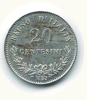 reverse: Vittorio Emanuele II - 20 Cent. 1863 MI. Vittorio Emanuele II - 20 Cent. 1863 MI FDC/q.FDC