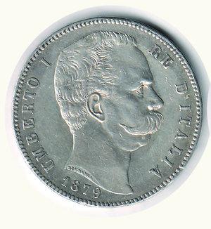 obverse: Umberto I - 5 Lire 1879. Umberto I - 5 Lire 1879. q.SPL