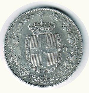 reverse: Umberto I - 5 Lire 1879. Umberto I - 5 Lire 1879. q.SPL