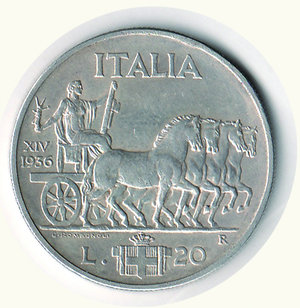 reverse: Vittorio Emanuele III - 20 Lire 1936 Impero. Vittorio Emanuele III - 20 Lire 1936 Impero SPL