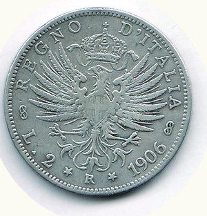 reverse: Vittorio Emanuele III - 2 Lire 1906. Vittorio Emanuele III - 2 Lire 1906 BB/BB+
