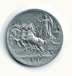 reverse: Vittorio Emanuele III - Lira 1916. Vittorio Emanuele III - Lira 1916 BB+/q.SPL