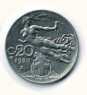 reverse: Vittorio Emanuele III - 20 Cent. 1920. Vittorio Emanuele III - 20 Cent. 1920 FDC