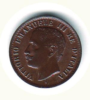 obverse: Vittorio Emanuele III - 1 Cent. 1905 - rame rosso. Vittorio Emanuele III - 1 Cent. 1905 FDC