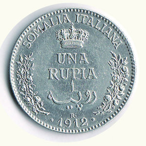 reverse: Vittorio Emanuele III - Rupia 1912. Vittorio Emanuele III - Rupia 1912. q.FDC