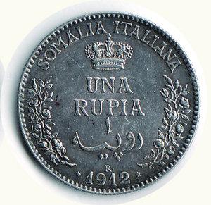 reverse: Vittorio Emanuele III - Rupia 1912 - Patina riposata. Vittorio Emanuele III - Rupia 1912 SPL+