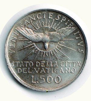 obverse: VATICANO - Sede Vacante 1963 - 500 Lire - Montenegro 700. VATICANO - Sede Vacante 1963 - 500 Lire - - AR - FDC