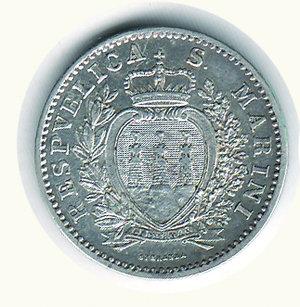 obverse: SAN MARINO - Vecchia monetazione - Lira 1906. SAN MARINO - Vecchia monetazione - Lira 1906 q.FDC