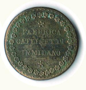 reverse: PESO MONETALE - 20 Lire italiane Fabbrica Catlinetti Milano. PESO MONETALE - 20 Lire italiane Fabbrica Catlinetti Milano RR - q.SPL