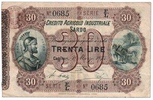 obverse: Credito Agricolo industriale Sardo -.30 Lire - Crapanzano IS 1. Credito Agricolo industriale Sardo -.30 Lire q.SPL