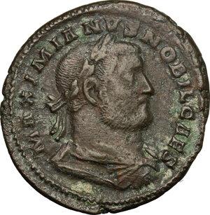 Galerio Cesare (293-305). Follis