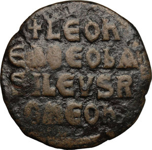 Leone VI (886-912). Follis
