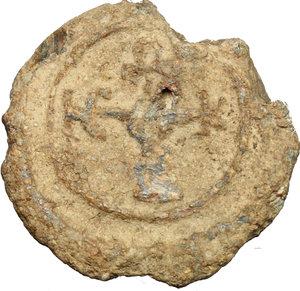 reverse: Bolla in piombo con monogramma