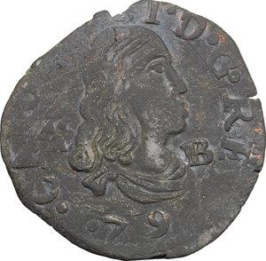 Napoli.  Carlo II  (1676-1700).. Tornese 1679