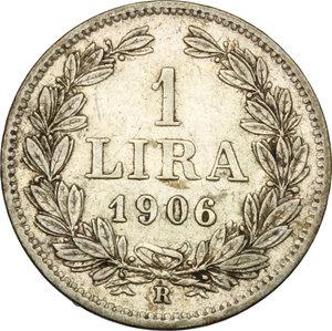 San Marino.  Prima Monetazione (1864-1906).. Lira 1906